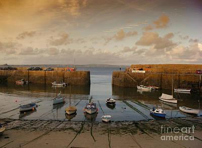 Harbor At Dusk Print by Pixel Chimp