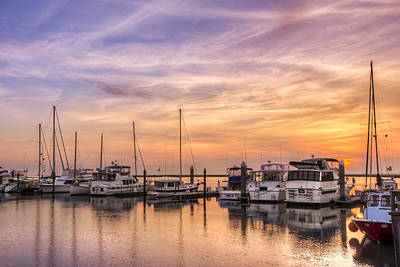 Harbor At Jekyll Island Art Print by Debra and Dave Vanderlaan