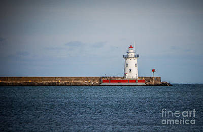 Photograph - Harbor Beach Lighthouse by Grace Grogan