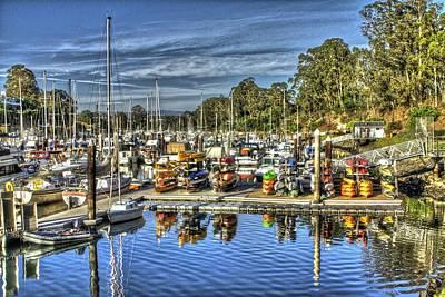 Santa Cruz Photograph - Harbor Boats by SC Heffner