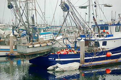 Photograph - Harbor Boats by Tamyra Crossley