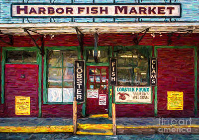 Storefront Photograph - Harbor Fish Market by Diane Diederich