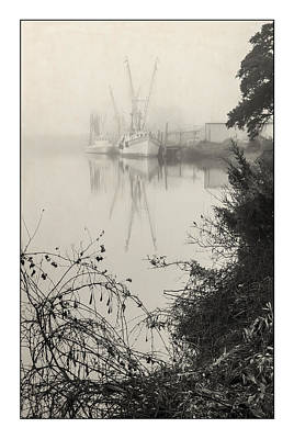 Photograph - Harbor Fog No.3 by Alan Sherlock