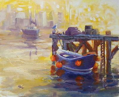 Painting - Harbor Glow by Sharon Casavant