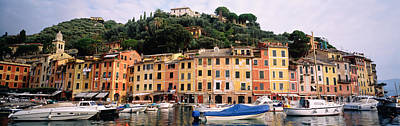 Portofino Italy Photograph - Harbor Houses Portofino Italy by Panoramic Images