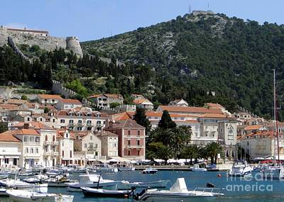 Photograph - Harbor In Hvar Croatia by Barbie Corbett-Newmin