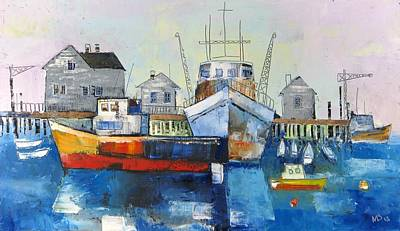 Harbor In The Maine Art Print