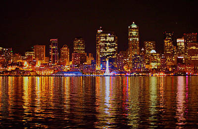 Photograph - Harbor Lights by Donald Torgerson