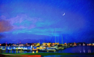 Painting - Harbor Lights by Melody McBride