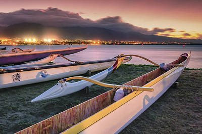 Harbor Lights Art Print by Hawaii  Fine Art Photography