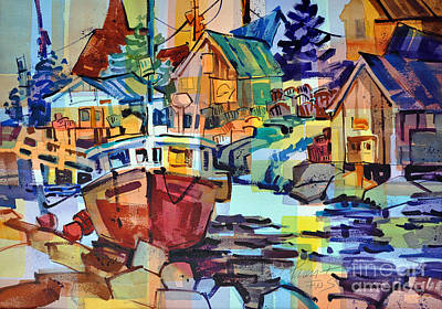 Painting - Harbor Glow by Roger Parent