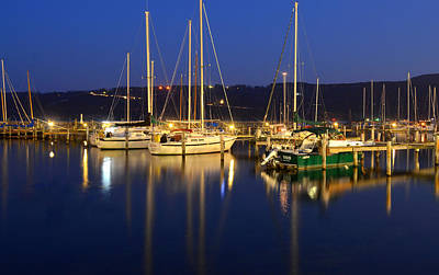 Harbor Nights Art Print by Frozen in Time Fine Art Photography