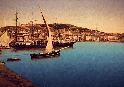 Harbor Of Cette Art Print by John K Woodruff