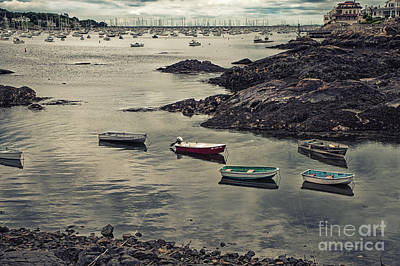 Harbor On A Cloudy Day Art Print