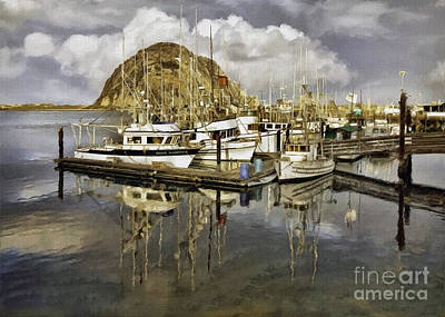 Photograph - Harbor Reflection Impasto by Sharon Foster