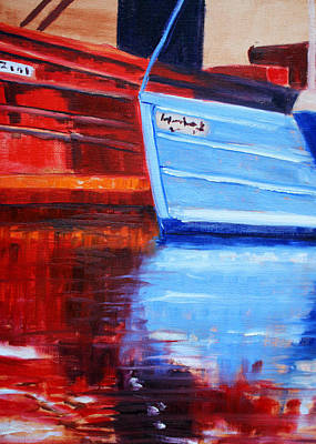 Painting - Harbor Reflection by Nancy Merkle