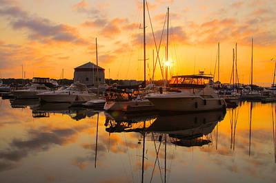 Photograph - Harbor Reflections 3 by Jim Vance