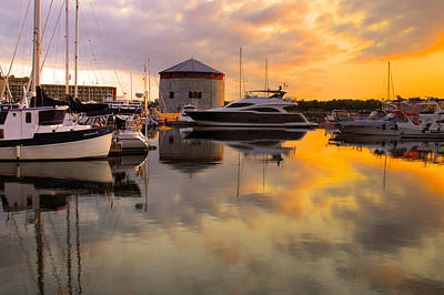 Photograph - Harbor Reflections 4 by Jim Vance