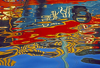 Art Print featuring the photograph Harbor Reflections by Dennis Cox WorldViews