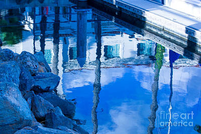 Digital Art - Harbor Reflections by Georgianne Giese