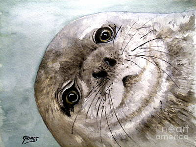 Painting - Harbor Seal by Carol Grimes