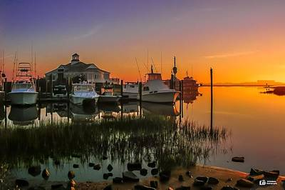 Photograph - Harbor Sunrise by Ed Roberts