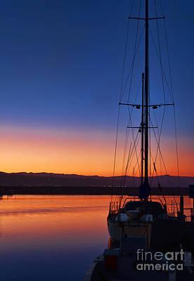 Dana Point Photograph - Harbor Sunrise by Eddie Yerkish