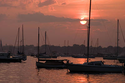 Photograph - Harbor Sunset by Jeff Folger