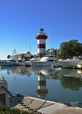 Harbor Town Lighthouse Art Print