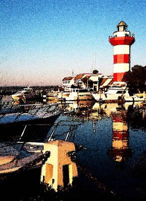 Harbor Town Lighthouse Art Print