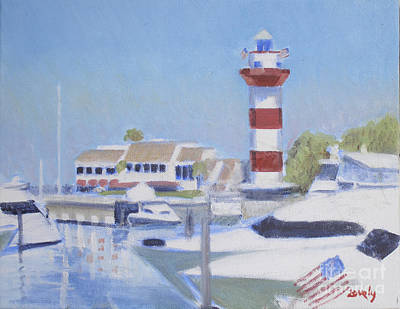 Head Harbour Lighthouse Painting - Harbor Town Morning Light by Candace Lovely
