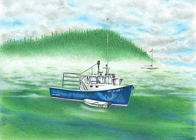 Drawing - Harbor by Troy Levesque
