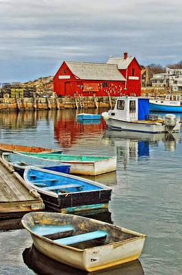 Row Boat Photograph - Harborside Parking by Joann Vitali