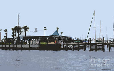 Fort Pierce Digital Art - Harbortown Marina Fuel Dock by Megan Dirsa-DuBois