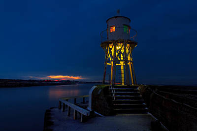 Dawn Photograph - Harbour Beacon by EXparte SE