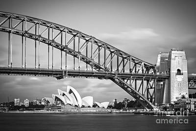 Photograph - Harbour Bridge And Opera House Sydney by Colin and Linda McKie