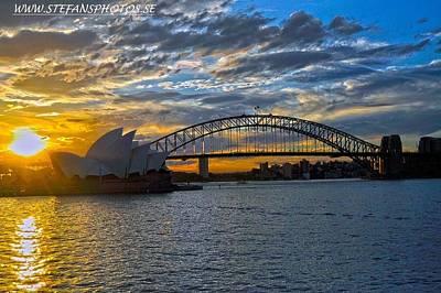 Harbour Bridge And Operahouse Art Print by Stefan Pettersson