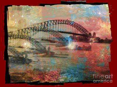 Art Print featuring the photograph Harbour In Abstraction by Leanne Seymour