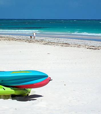 Photograph - Harbour Island Beach Kayaks by Duane McCullough