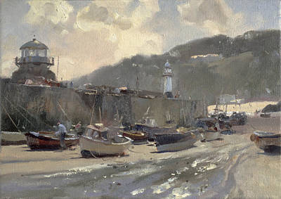Cornish Wall Art - Photograph - Harbour Light, St. Ives Oil On Canvas by Trevor Chamberlain