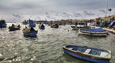 Maltese Photograph - Harbour Of Marsaxlokk In Malta by Frank Bach
