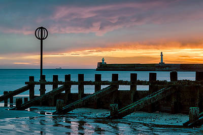 Marker Photograph - Harbour Sunrise by Dave Bowman