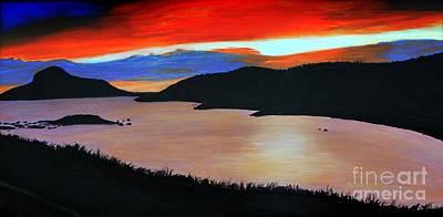 Harbour Sunset Art Print by Barbara Griffin