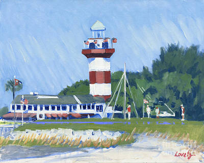 Head Harbour Lighthouse Painting - Putting In Harbour Town  by Candace Lovely