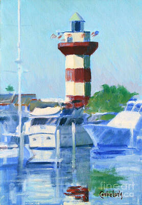 Boston Harbor Islands Painting - Harbour Town by Candace Lovely