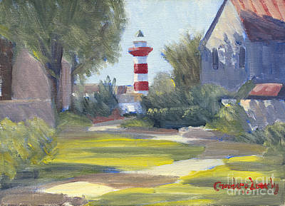 Recently Sold - Sports Paintings - Harbour Town Lighthouse Path by Candace Lovely