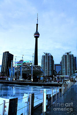Photograph - Harbourfront Ice Rink With C.n. Tower by Nina Silver