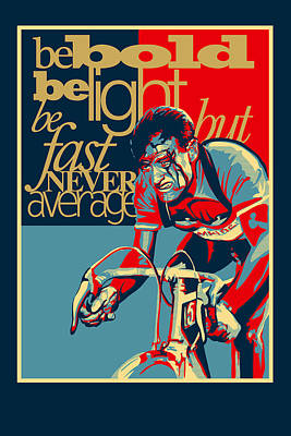 Stencil Painting - Hard As Nails Vintage Cycling Poster by Sassan Filsoof