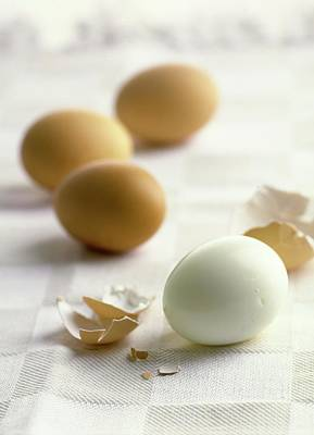 Cooking Photograph - Hard-boiled Eggs by Romulo Yanes