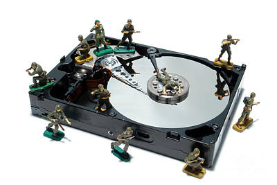 Disc Photograph - Hard Drive Defense  by Olivier Le Queinec